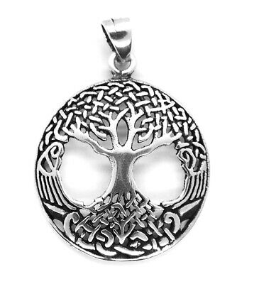 Sterling Silver Tree of Life Pendant / Necklace (Druid, Pagan)