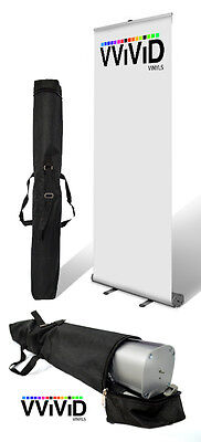 "Retractable Roll Up Banner Stand 31"" wide 79"" tall Display DIY KIT"