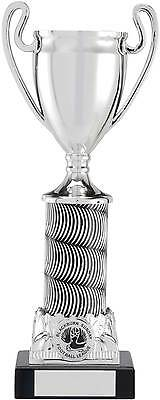 Football/Any Sport Trophies Silver Metallised Cup Award 3 Sizes FREE Engraving