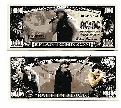 Ac / Dc Brian Johnson   Million   Dollar  Bill