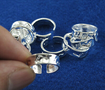 Wholesale Lots 10pcs Sterling Silver Fashion footprint toe rings Adjustable