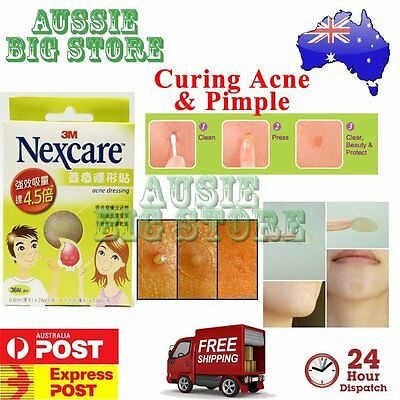 36 Pcs Nexcare 3M Acne Dressing Pimple Sticker Inflamed Zit Heal Patch Thin