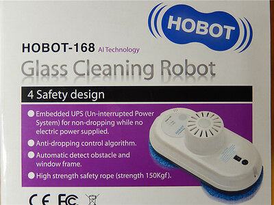 Window Glass Cleaning Robot Hobot Winbot Remote Control Automatic White Grey