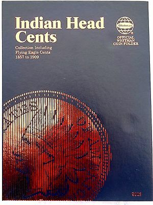 Whitman Indian Head Flying Eagle Cent 1857-1909 Coin Folder Penny Album Book