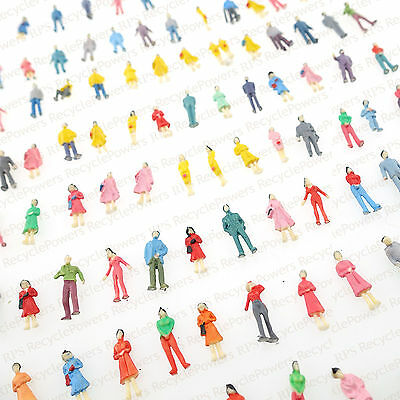100 Building Layout Model People 1:87 HO Scale Painted Figure interior design
