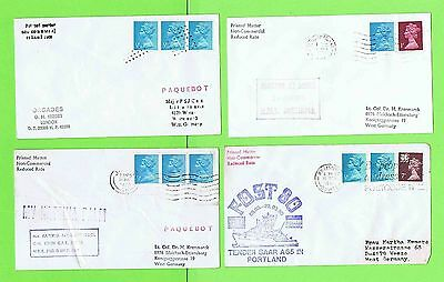GB Collection of four Paquetbot Covers inc Orcades