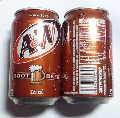 A&W ROOT BEER can from THAILAND 325ml Halal A & W Bear 2009 Rare