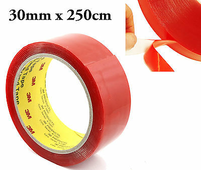 """3M"" Bande Adhesive 30 Mm X 2.50 M Ultra Fort Double Face Scotch Ruban Mousse"