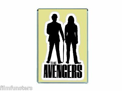 Nostalgia 'the Avengers Tv' Emma Peel & Steed - Jumbo Fridge Magnet