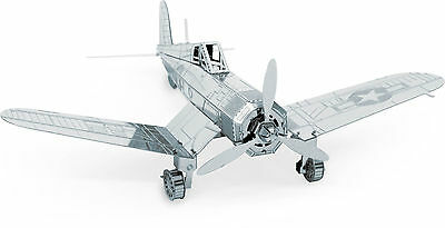 F4U Corsair 3D-Metall-Bausatz Silver-Edition Metal Earth 1035