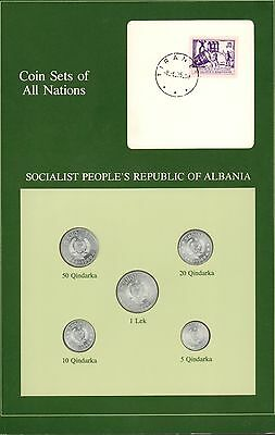 Coin Sets of All Nations Socialist Peoples Republic of Albania BU Free Shipping
