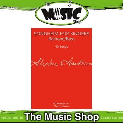 New Sondheim for Singers: Baritone/Bass Music Book - Vocal Songbook