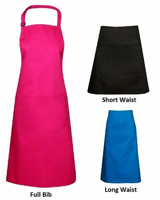 Adults Plain Quality Apron Cooking Chef Craft Bar Waiters Kitchen | Bulk Lot Buy