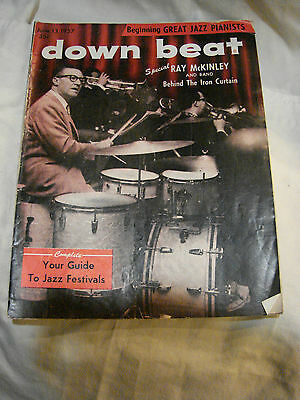 Down Beat  Jaz Mag June 13 1957 Cover Ray Mc Kinley Band Behind The Iron Curtian