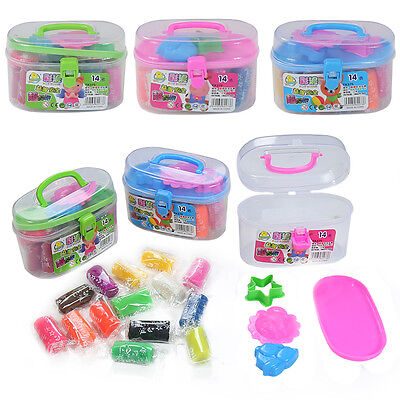 17 Pcs New Kids Play Dough Doh Clay Modeling Tool Toy Plasticine Gift Set