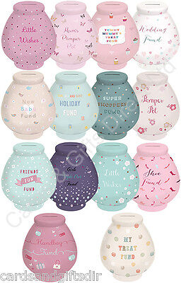 Little Wishes Money Pot of Dreams Savings Bank Various Designs Available