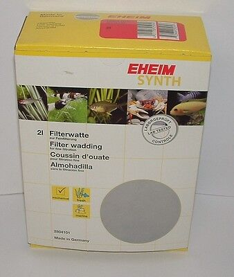 EHEIM 2504101 EHFISYNTH 2 litre. Fine Filter Wadding. Aquarium Filter