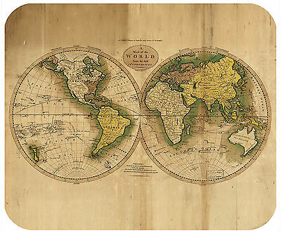 Mouse Pad - Thick Mousepad - Vintage World Map
