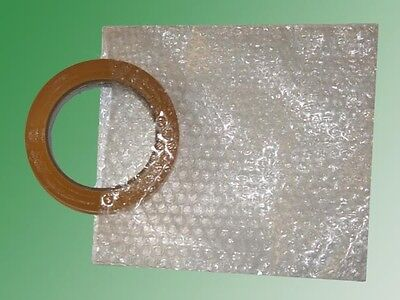 "6"" X 6"" Clear Flush Cut Small Bubble Pouch, 100 Pouches - SHIPS FREE!"