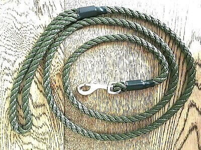 HANDMADE DOG LEAD WITH TRIGGER CLIP  8 mm x 145 mm (strong 3 strand rope) NEW