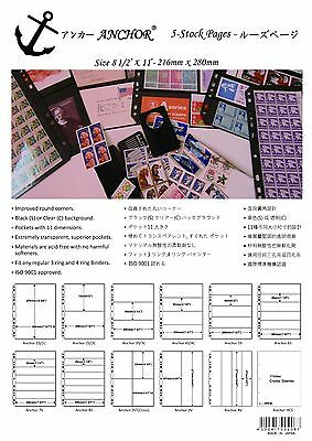 ANCHOR 55 Stock Pages/Sheets 1S, 2S, 3S, 4S, 5S, 6S, 7S, 8S, 2ST, 2V, 4V@5 pages