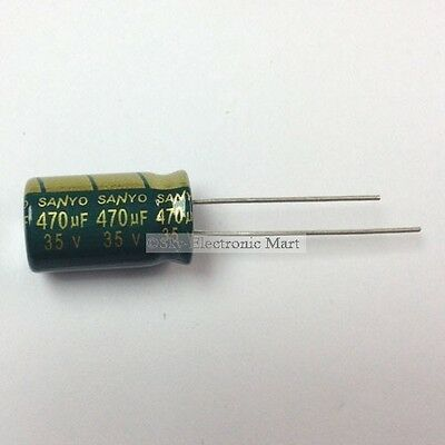10x Electrolytic Capacitors Condensateurs électrolytiques 470uF 35V Radial