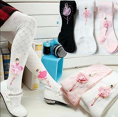 Baby Children Girls Lace Flower Soft Cotton Long Socks Stocking Pantyhose Tights
