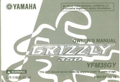 yamaha yfm grizzly 350 owners manual 10 00 picclick uk rh picclick co uk 2007 yamaha grizzly 450 owners manual 2007 yamaha grizzly 350 service manual pdf