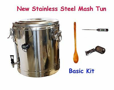 Brand New 40L Stainless Steel HomeBrew All Grain Mash Tun Basic Setup