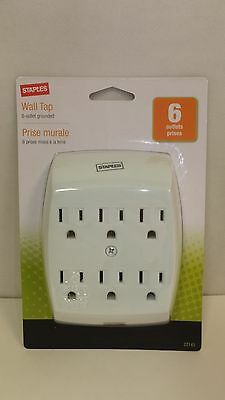 6-Outlet Grounded Wall Tap for 3-Prong Outlets Only (22145)
