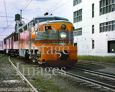 Milwaukee Road Photo Olympian Hiawatha Erie Built train 6 Poster CMSP Railroad
