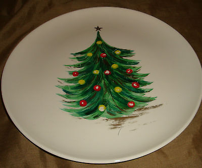 Hand Painted TAYLOR SMITH & TAYLOR Versatile CHRISTMAS Tree Dinner PLATE