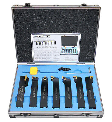 """7 Pieces/Set  3/4"""" Indexable Carbide Turning Tool Set in Fitted Box, #2387-2006"""