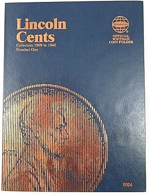 Whitman Lincoln Cents #1 1909-1940 Coin Folder, Penny Album Book #9004