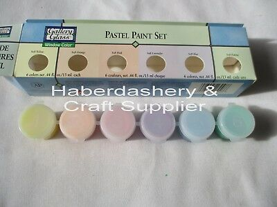 Paint Pots Mini 6 Pastel Colors For Glass