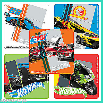 Hot Wheels Speed Stickers x 5 - Birthday Favours - Hot Cars/Racing - Loot Bag