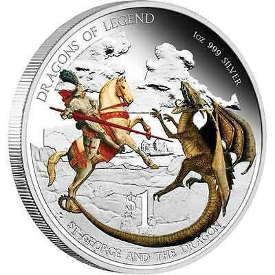 St George and the Dragon - Dragons of Legend #3 - 2012 1oz Silver Coin