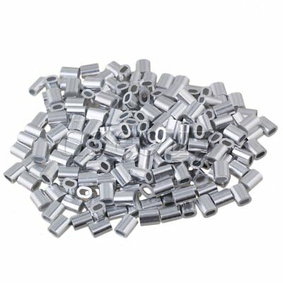 200PCS M1 Wire Rope Oval Aluminum Clip Ferrule Sleeves