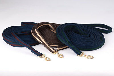 Rhinegold padded supersoft cushion web lunge line reins rope. 8m approx.