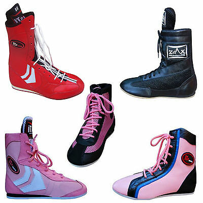 ZstarAX KIDS Boxing Boots Children Leather Shoes Light Weight Sole Junior