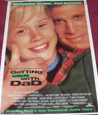 Cinema Poster: GETTING EVEN WITH DAD 1994 (One Sheet) Macaulay Culkin Ted Danson