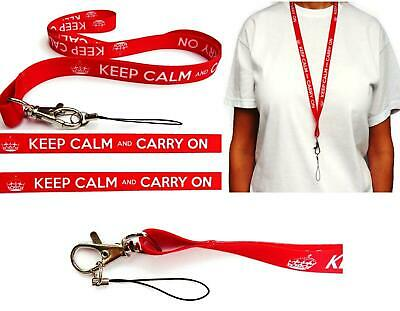 KEEP CALM Neck Strap Lanyard with Lobster Clap ideal for mobile id keys mp3 usb