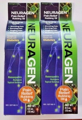 Neuragen Topical Nerve Pain Relief Oil .5 oz, 2 Pack,-Expiration Date 01-2021-