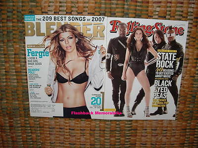 BLACK EYED PEAS (3) MAGAZINE LOT 2006-08-10 BLENDER Rolling Stone Covers FERGIE