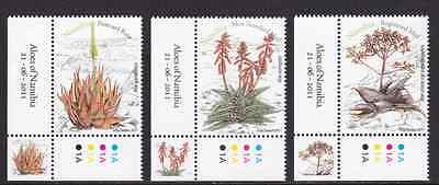 NAMIBIA - 2011 - Aloes of Namibia. Complete set, 3v. Mint NH