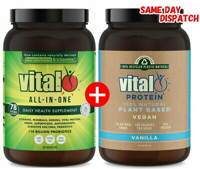 Vital Greens All In One 1Kg + Vital Protein 1Kg