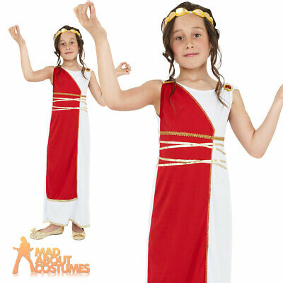 Grecian Girl Costume Costume Child Greek Goddess Roman Toga Fancy Dress Ouffit