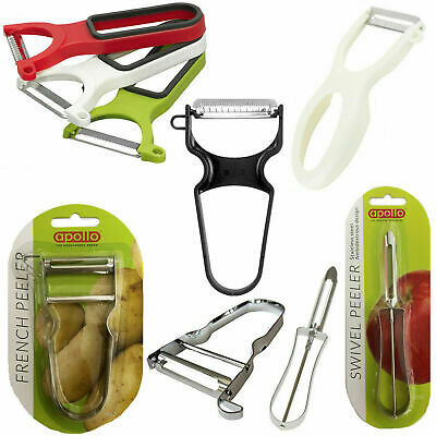 3 Peelers Set Swivel Vegetable Peel Potato Fruit Salad Slicer Kitchen Shred Grip