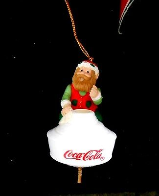 Coca-Cola Bottling Works Collection 1997 Ornament - Elf on Lamp Shade  - New