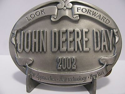 John Deere Day 2002 Pewter Belt Buckle  jd   NEW!